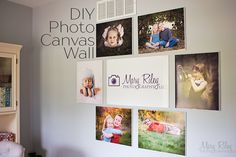 Print your photos big. This DIY project teaches you how to make faux canvas prints quick and on a budget.