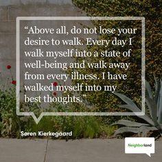 Just keep walking. Just Keep Walking, Walking For Health, Kierkegaard Quotes, Soren Kierkegaard, Fitness Diet, Health Fitness, Benefits Of Walking, Good Thoughts, Health And Wellbeing