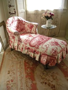 French Toile Chaise