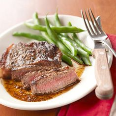 Herbed Steak with Balsamic Sauce