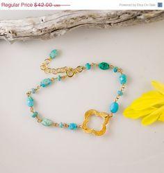 December Birthstone: Turquoise Bracelet by Delezhen