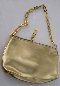 Glitzy vintage gold evening bag with chunky chain shoulder by BoxV