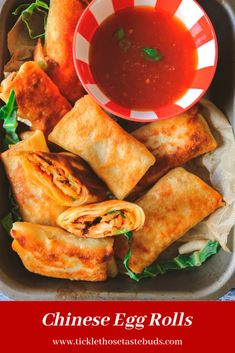 Restaurant delicious Chinese Egg Rolls, loaded with chicken and veggies, smothered in Asian sauces all wrapped up in a crispy homemade egg roll wrapper Egg Roll Recipes, Turkey Recipes, Chicken Recipes, Yummy Recipes, Chinese Egg Rolls, Egg Roll Wraps, Homemade Egg Rolls, Fried Vegetables, Sweet Chili