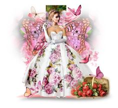 """""""Butterfly Doll"""" by reluna ❤ liked on Polyvore featuring art"""