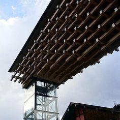 Yusuhara Wooden Bridge Museum (Kengo Kuma)  #kengokuma #yusuhara : @sumi_shu