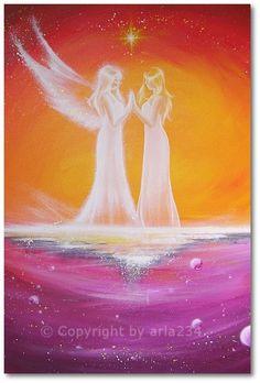 Limited angel art photo cosmic touch modern door HenriettesART