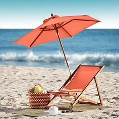 Have a nice time - more coral peach tangerine salmon and orange here: Beach Day, Summer Beach, Summer Time, Nice Time, Beach Please, I Love The Beach, Beach Umbrella, Parasol, Am Meer