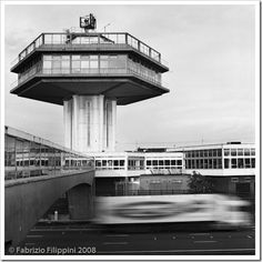 The just Grade-II listed Forton Services, on the M6 motorway near Lancaster, England | T.P. Bennett and Son Architects, 1965 | Photo Fabrizio Fillipini, 2008