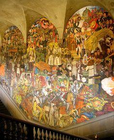 Diego rivera 1929 1935 el mundo de hoy y de ma ana for Diego rivera mural 1929