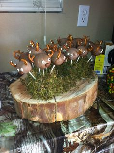 hunting baby shower cake pops more deer baby showers camo baby shower
