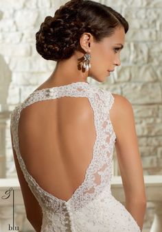 Wedding Gowns / Dresses Style 5313: Crystal Beaded Alencon Lace Appliques on Tulle http://www.morilee.com/bridals/blu/5313