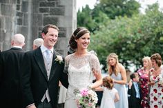 Pale Blue and Pretty Maids and an Elegant Jenny Packham 'Damask' Bride...(morning wedding but still elegant as anything)