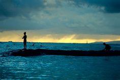 Waikiki Beach fishing