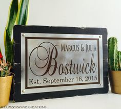 Family Established Sign Last Name Sign With by LumberwaveCreations