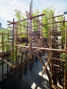 vo trong nghia architects bamboo forest pavilion toto gallery ma tokyo japan designboom