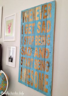 Crafty Teacher Lady: Awesome DIY Pallet Sign made using my Silhouette