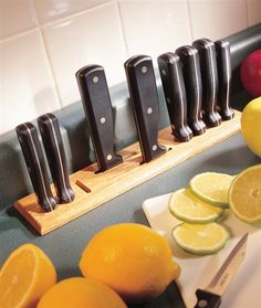 Countertop Knife Rack  Improve storage in the kitchen in an afternoon, using only a tablesaw and a plunge router.