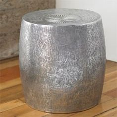 Marvelous Recycled Drum Side Table