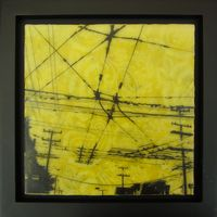 Encaustic paintings that combine old world skill with new urban imagery. Need to have one of these soon.