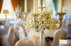 simple candelabra wedding centerpiece - Google Search