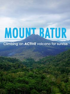 While visiting Bali I decided to sign up for a 4:00 am hike up the steep slope of an active volcano. Yes, I can now say I climbed Mount Batur!