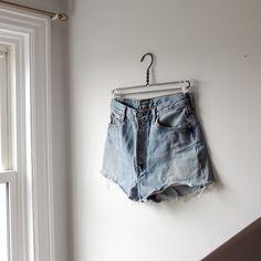 834a690511 @lisaloveslions on Depop Vintage Levi's cut off denim shorts Size 30  Perfect fit! Light