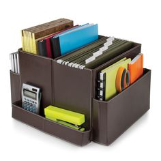 "Features:  -Essentials collection.  -Does not spin.  Product Type: -Supplies Organizer.  Material: -Plastic.  Color: -Brown. Dimensions:  Overall Height - Top to Bottom: -12"".  Overall Width - Side to"