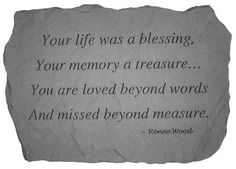 Life Blessing - Memorial Garden Stone The Comfort Company