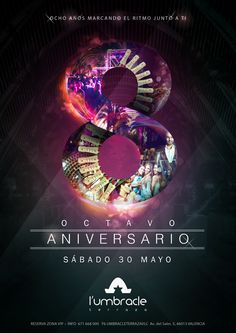 Umbracle Valencia 8 Aniversario Flyer Poster Graphic Design Illustration
