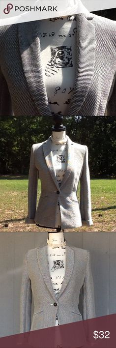 Blazer H&M  NWOT Tweed blend of black and white and maybe grey. H&M Jackets & Coats Blazers