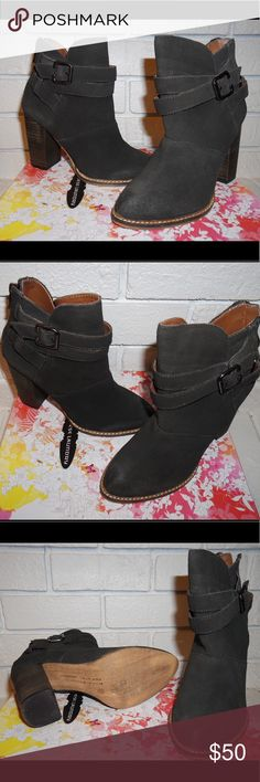 Smoke/dark grey  suede ankle booties western style Smoke/dark grey  suede ankle booties western style Chinese Laundry Shoes Ankle Boots & Booties