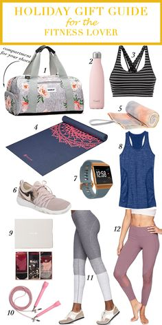 This holiday gift guide for the fitness lover is perfect for anyone that is into fitness or wants to get into it. Something about new gear is so motivating.