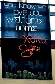 @Sigma Sigma Sigma National Sorority Theta Alpha bid day banner, gossip girl themed!