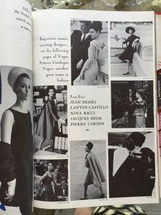 Vogue Hardback Catalogue, January 1964 featuring Vogue Paris Original patterns