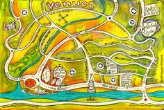 We Make Maps! Hand drawn, custom-made, colourful, quirky maps. We provide high quality images ready to print for business brochures and tourist guides. Each commission is different so whether it& Us Map, Business Brochure, Brochures, High Quality Images, Hand Drawn, Maps, How To Draw Hands, How To Make, Color