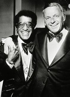 "Frank Sinatra and Sammy Davis, Jr. in ""A heaven with his magic gives me warmth. Sam was the best friend a man could have. He was a class act and I will miss him forever."" - Sinatra after Davis' death in Joey Bishop, Sammy Davis Jr, Mia Farrow, Dean Martin, Ava Gardner, Vintage Hollywood, Classic Hollywood, Franck Sinatra, Peter Lawford"