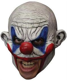 Brand New Horror Evil Krumpy Deluxe Circus Clown Chinless Adult Mask