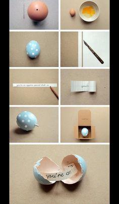 Cute Little Secret Egg Note!(: