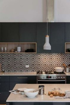 If you are looking for Black Kitchen Cabinets Design Ideas, You come to the right place. Here are the Black Kitchen Cabinets Design Ideas. Kitchen Room Design, Kitchen Cabinet Design, Modern Kitchen Design, Home Decor Kitchen, Interior Design Kitchen, Contemporary Kitchen Interior, Modern Kitchen Interiors, Black Kitchen Cabinets, Black Kitchens