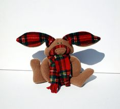 Royal Stewart Bunny Stuart baby toy Cuddle by TwistedKnickersInc, $25.00