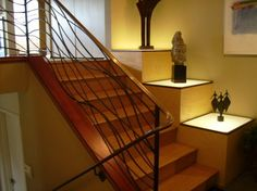 wavy stair railing | Staircase Design Ideas, Inspiration, Pictures and Remodels