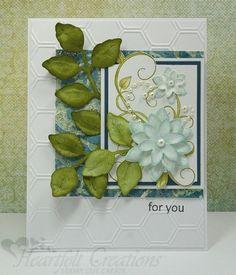 Heartfelt Creations   Leafy Fleur Card
