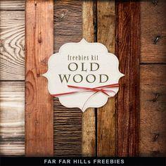 FAR FAR HILLS - New Freebies Kit of Backgrounds - Old Wood