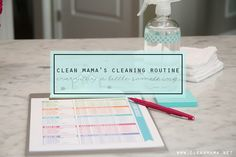 Implement a cleaning routine that actually works. This tried and true system is perfect!