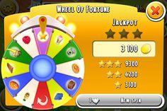 Hay Day wheel of Fortune
