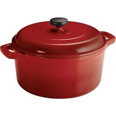 Love it in orange! Tramontina 6.5 Qt Enameled Round Cast Iron Dutch Oven - Walmart.com