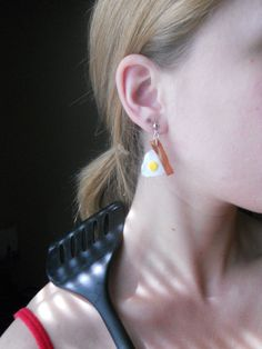 bacon and egg earrings ... can you say FUN?