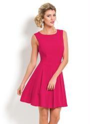 Vestido Evasê sem Mangas (Pink)