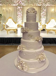 wedding cakes lace A beautiful six tier wedding cake styled with lace and sugar roses Bling Wedding Cakes, Wedding Cake Prices, Floral Wedding Cakes, White Wedding Cakes, Elegant Wedding Cakes, Beautiful Wedding Cakes, Wedding Cake Designs, Wedding Lace, Extreme Wedding Cakes