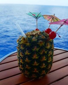 You deserve every drink to be served in a pineapple and topped with umbrellas. Photo by: Trump International Hotel, Waikiki Beach, Five Star Hotel, Beach Walk, Oahu, Umbrellas, Trip Advisor, Pineapple, Hotels